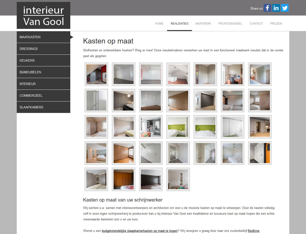 Interieur Van Gool Koen Michielsen Webdesign Essen